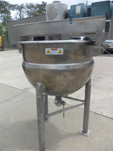 Hamilton 60 Gallon Type 316 Stainless Steel Jacketed Double Motion Mixing Kettle