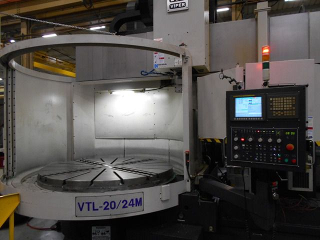 Mighty Viper 20-24M CNC VERTICAL BORING MILL WITH C AXIS