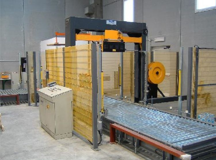 Automatic Palett packing line year 2004