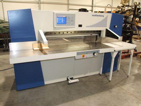 Wohlenberg 137 CutTec, Paper cutting guillotine