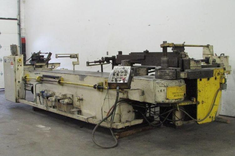 Pines horizontal heavy duty mandrel type tube bending machine