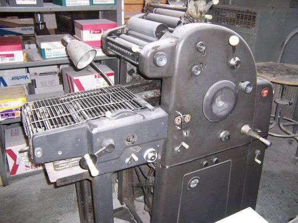 AB Dick 360 CD, 1 color Offset machine 11 X 17""