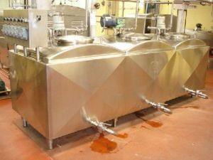 Crepaco Three Compartment Insulated Stainless Steel Tank