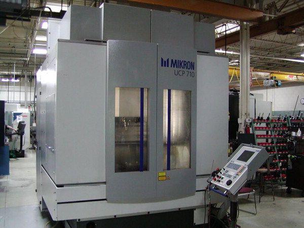 "Mikron UCP-710, C27 x 21"" x19"" 5 Axis Vertical Machining Center 3 Axis"