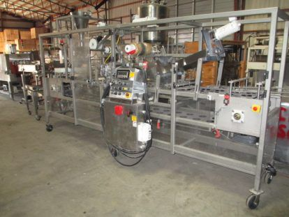 Modern Packaging 2 LANE STRAIGHT LINE POWDER CUP PACKAGING SYSTEM
