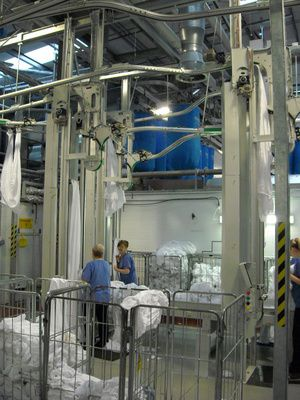 Jensen Viking Separator, Logic 2000 feeder Complete Ironer Line