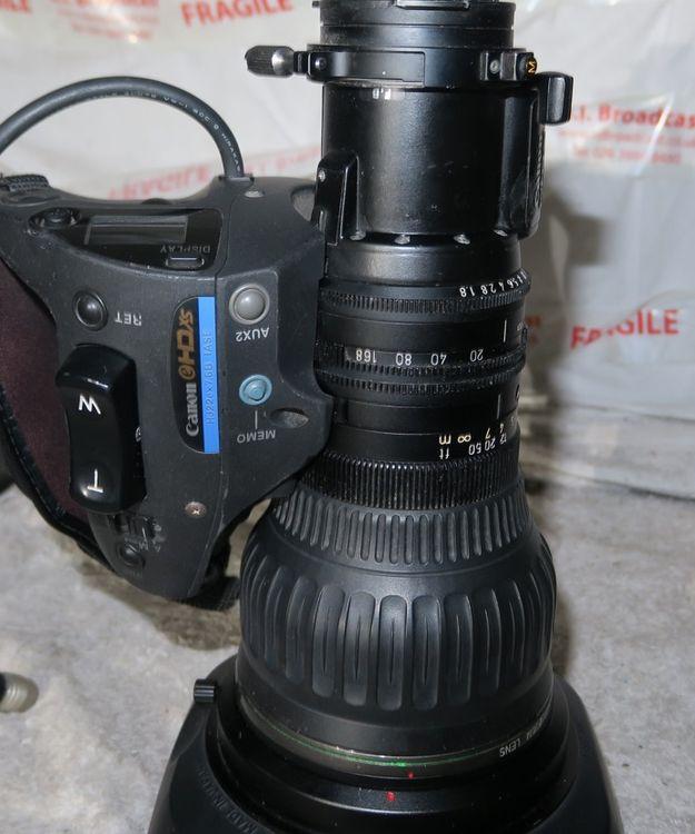 Canon high definition hj22e x 7.6 iase broadcast lens