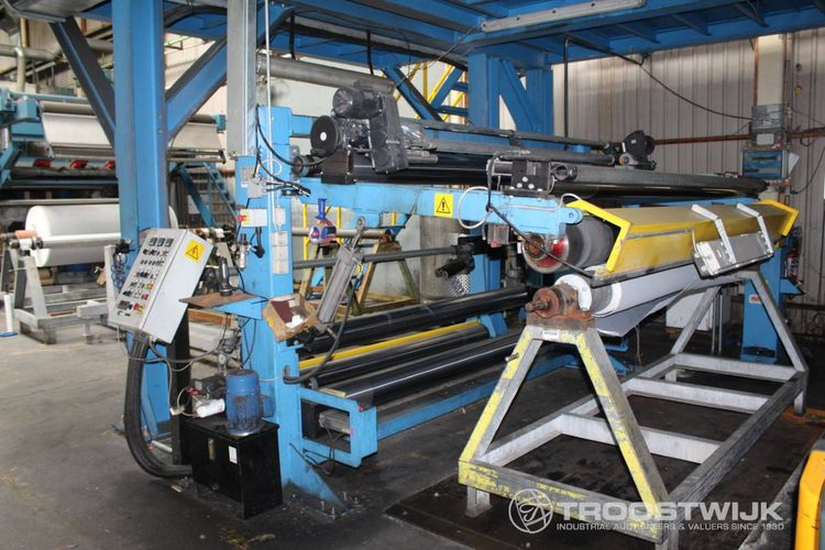 Troostwijk bankruptcy auction sale of textile coating machinery and lines (up to 2014) and fabric stock - Denmark