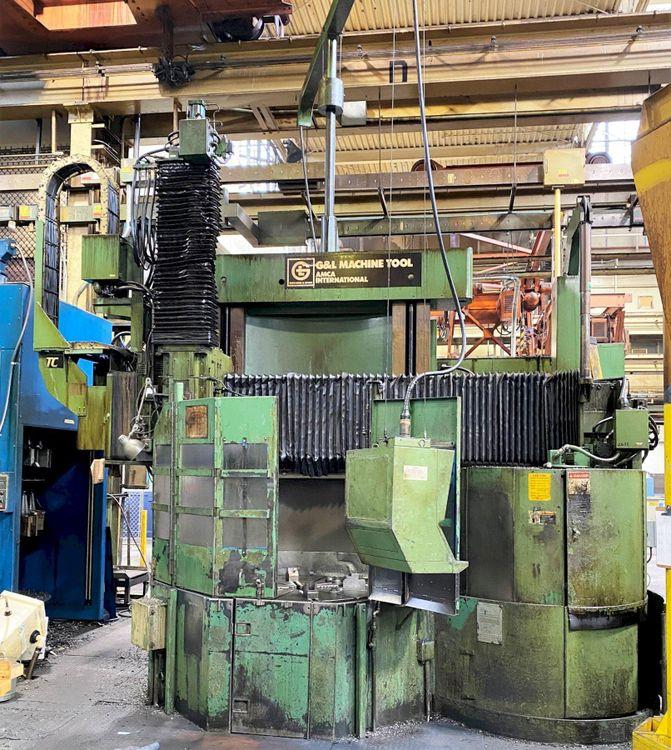 "Giddings & Lewis Heavy Duty 48-VTC 48"" CNC Vertical Boring Mill"