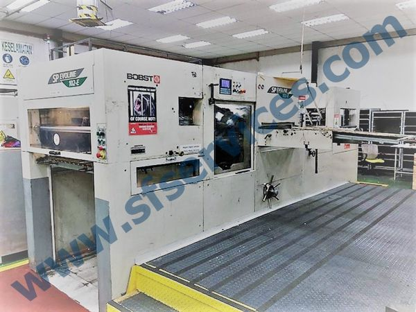 Bobst SP Evoline 102E, Die Cutting & Creasing Press with Embossing & Stripping