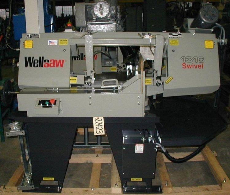 Wellsaw 1316S Horizontal Bandsaw Semi Automatic