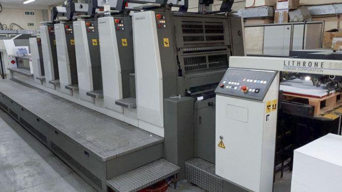 Komori LS529+CX HUV 20 x 29 inch