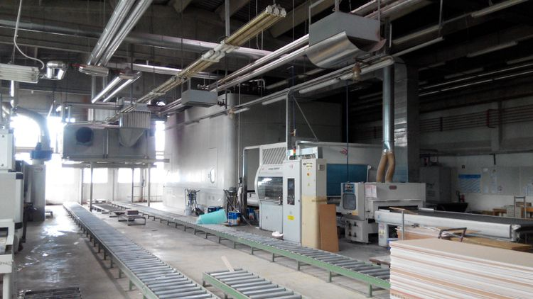 Others Cefla paiting line with vertical oven