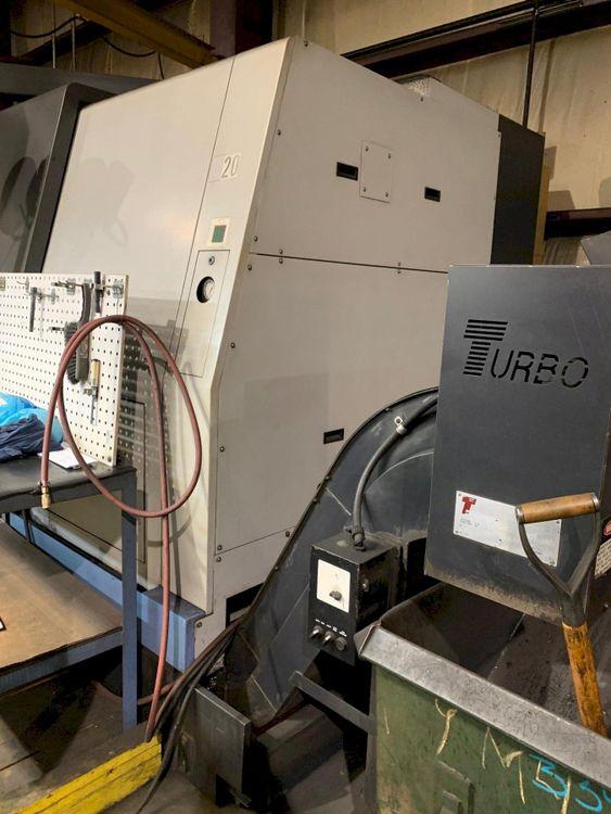 2 Doosan Fanuc 21iTB CNC Control 15000 rpm Puma 700 CNC Turning Center 2 Axis