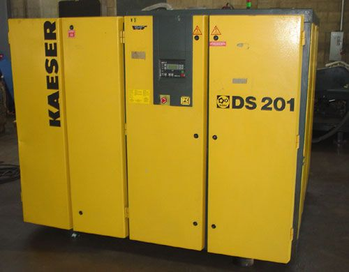 Kaeser DS201, Water Cooled Rotary Screw Air Compressor 150 HP