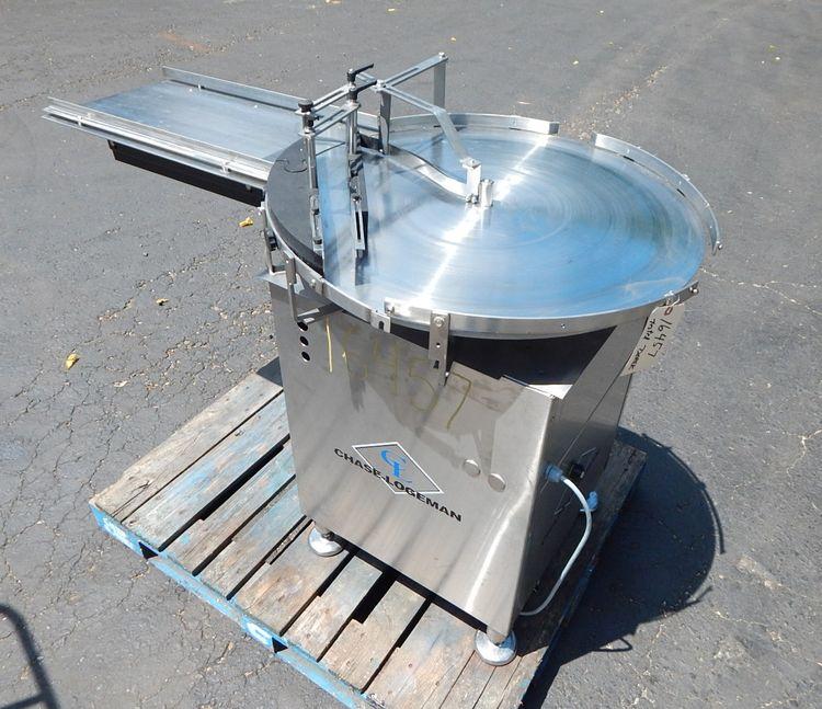 Chase Logeman 24-300a rotary unscrambling table