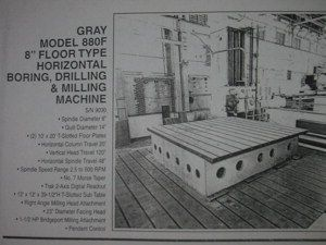 """Gray 880F 8"""" Max. 500 rpm"""