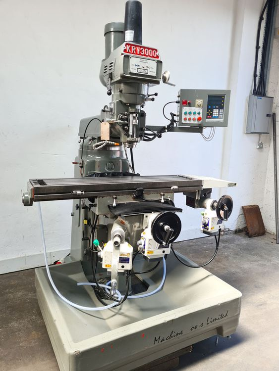 XYZ KRV 3000 TURRET MILL 40 Int. Spindle VERTICAL 3600 rpm