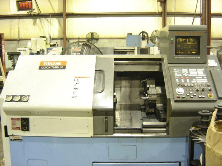 Mazak MAZATROL T-PLUS CNC CONTROL 5000 rpm QT-20 CNC LATHE 2 Axis