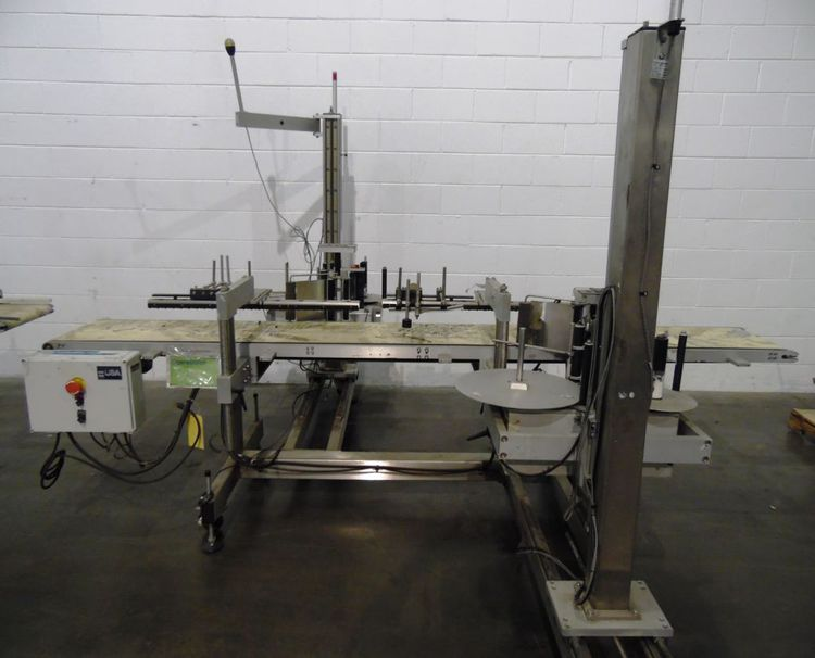 Quadrel FRONT & BACK Pressure sensitive labeler
