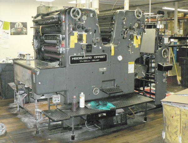 Heidelberg SORSZ, 2 colors Offset machine 72 X 102cm