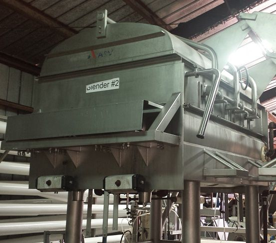 APV 80DP-V Jacketed Double Ribbon Blender SS