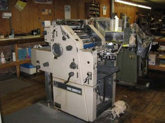 "Ryobi 2800 CD, 1 color Offset machine 11"" X 17"""