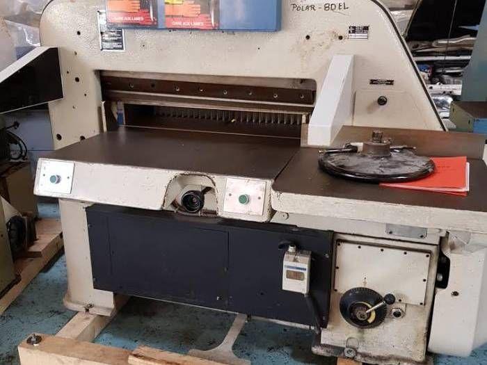 Polar 80 EL, Paper guillotine machine
