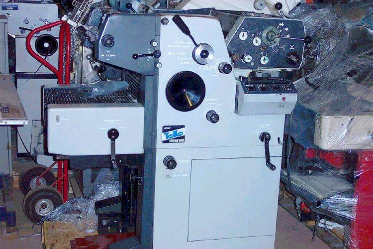 "Toko 4700, 1 color Offset machine 12"" X 17"""