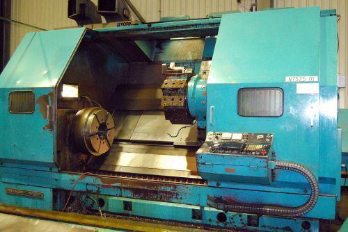 Mazak cnc control 1000 rpm SLANT TURN 60 UNIVERSAL 2000 CNC CHUCKER LATHE 2 Axis