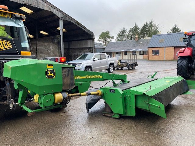 John Deere front and rear 10ft mowers
