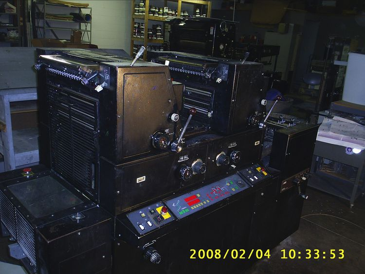 "AB Dick 9985, 2 colors Offset machine 13"" X 18"""