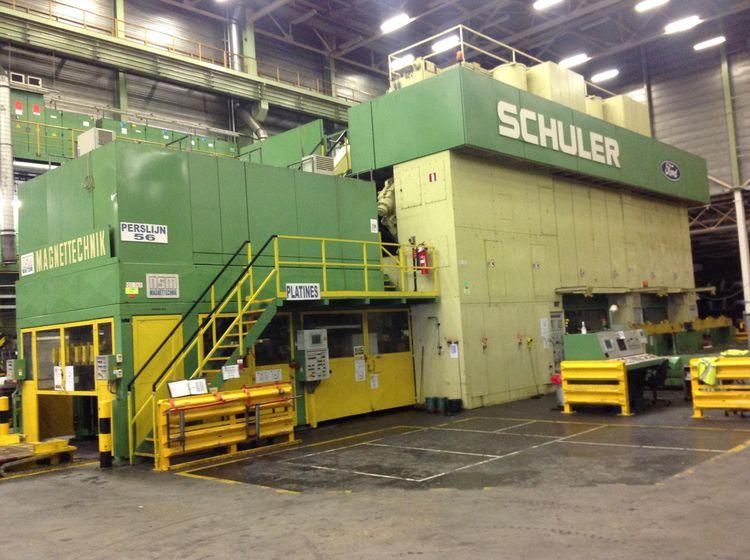 3 Schuler TRI -AXIS TRANSFER PRESS LINE  TSB-2200-6-1200 2200 Ton