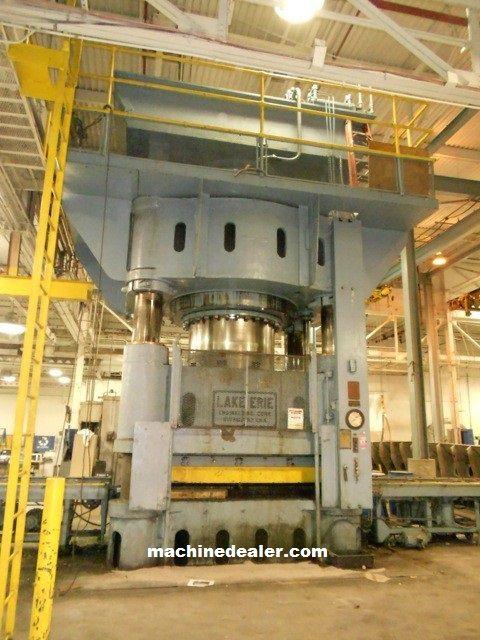 Lake Erie 4-Post Downacting Hydraulic Press, Built in 1951 3500 TON