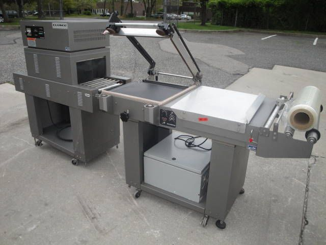 """Clamco SHRINK PACKAGING SYSTEM CONSISTING OF CLAMCO SEMI-AUTOMATIC """"L"""" BAR SEALER"""