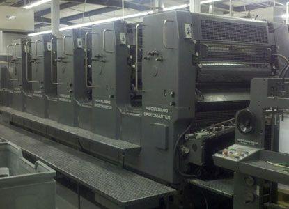 Heidelberg 102FPP. 5 Colors Offset Machine Max. 72 x 102 cm