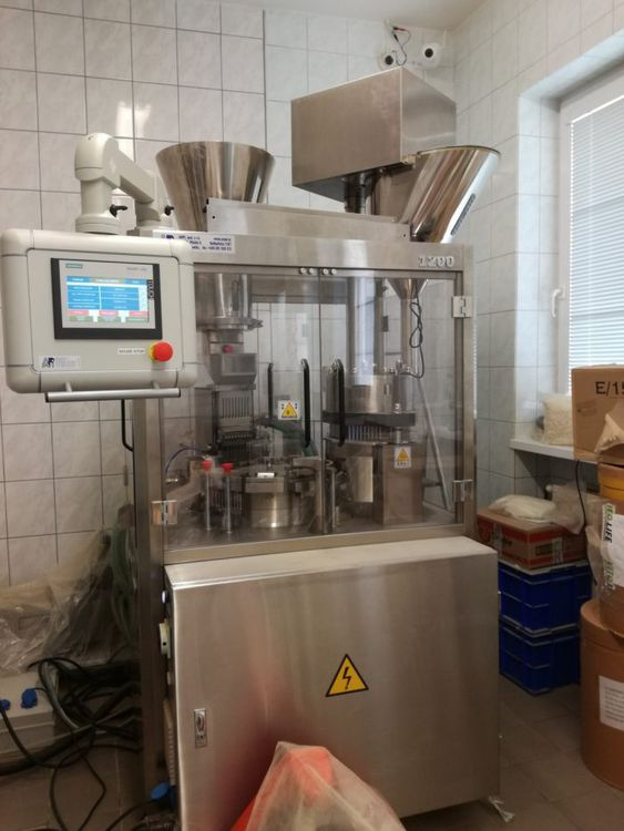 AMPI  ANJP-1200 automatic capsule filler and  capsule polisher