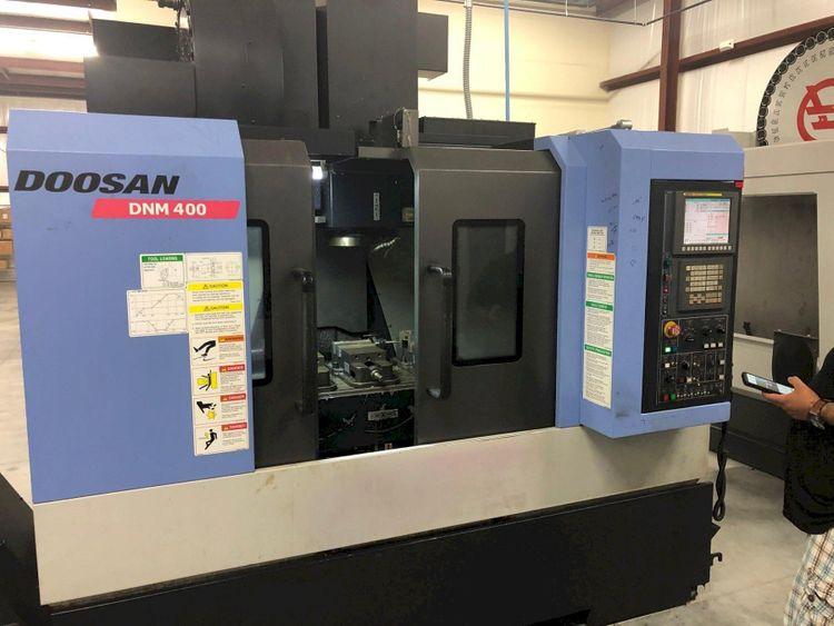 2 Doosan DNM-400 CNC Vertical Machining Center 3 Axis