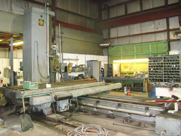 "Fraser, Giddings & Lewis T5 5"" Table Type Horizontal Boring Mill 975 Rpm"