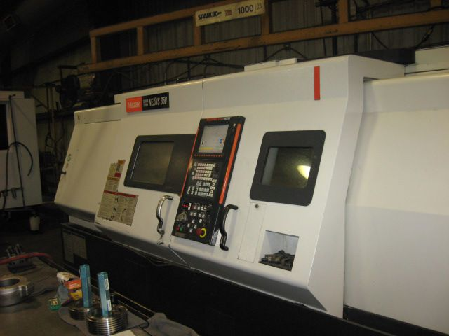 Mazak MAZATROL 640T NEXUS CNC CONVERSATIONAL CONTROL Max. 3300 rpm QTN 350/1550U CNC TURNING CENTER 2 Axis