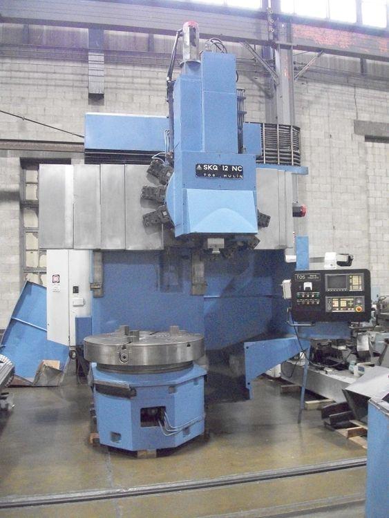 TOS SKQ-12NC CNC VERTICAL BORING MILL