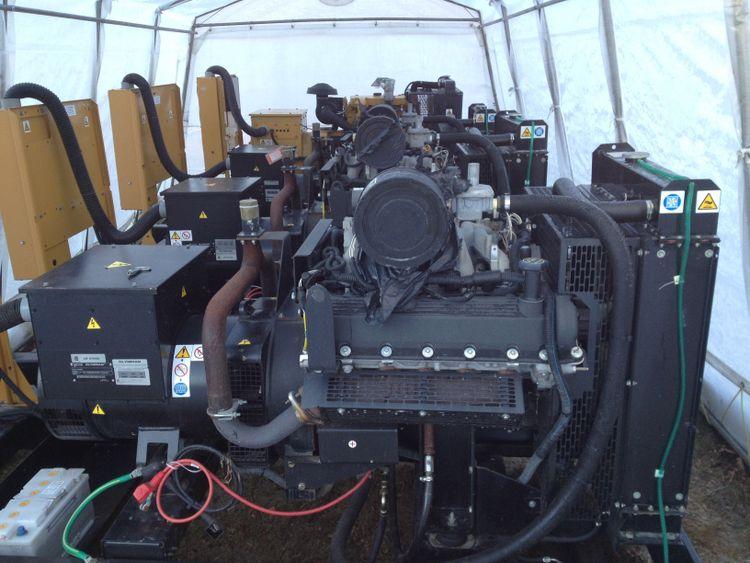 3  Natural Gas Gensets 60KW, 208/120V