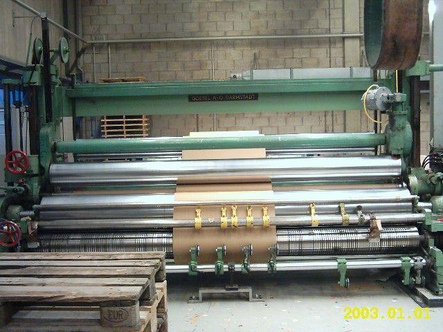 """Goebel U7, 2-Drum Slitter Rewinder 3600mm (142"""") working width"""