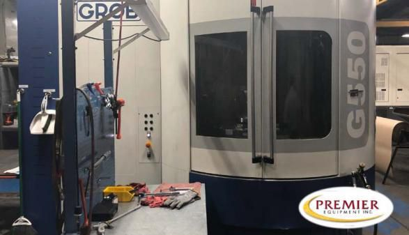 Grob G550 with Pallet Changer 4 Axis