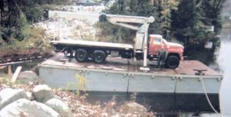 7 Sections 70' x 22' x 7' Steel Sectional Barge
