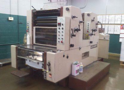 Fuji 65 IIP, 2 Colors Offset Machine Max. 48 x 65 cm
