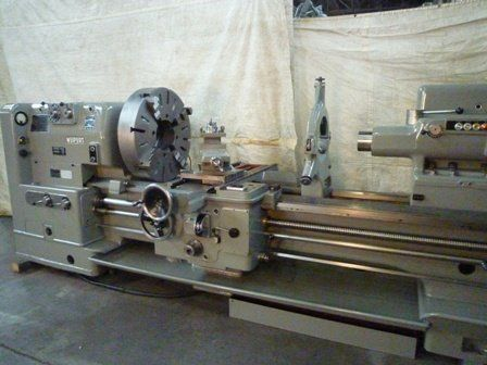 Weipert MANUAL GAP BED BIG BORE LATHE 450 rpm 630e