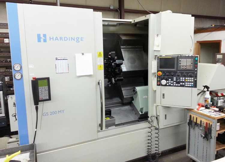 Hardinge Fanuc 18i-TB CNC Control 4500 rpm GS 200MY CNC Lathe 2 Axis