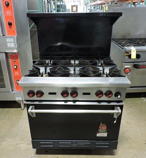 Wolf CHR-6-29, 6 Open Burner Range w/ Standard Oven