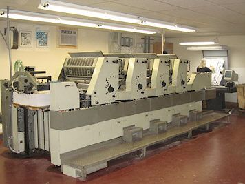 Adast 745 CPH, 4 colors Offset machine 48 X 65cm